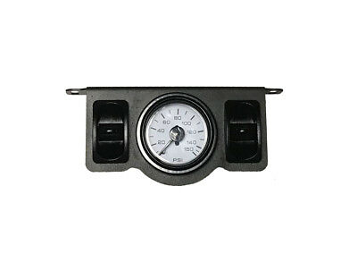 Air Ride Suspension Dual Needle Air Gauge Panel 150psi 2 Paddle Switches Control