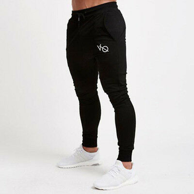 Mens Gym Slim Fit Trousers Tracksuit Bottoms Skinny Joggers Sweat Pants one
