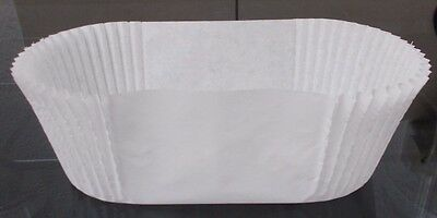 1Lb Rectangular Crimped Greaseproof Cake Loaf Tin Liners