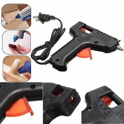 20W Pro Electric Hot Melt Glue Gun Trigger Tool With 10 Adhesive 7mm Sticks UK