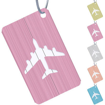 2Pcs Journey Business Luggage Tag Baggage Suitcase Label Address ID Alloy