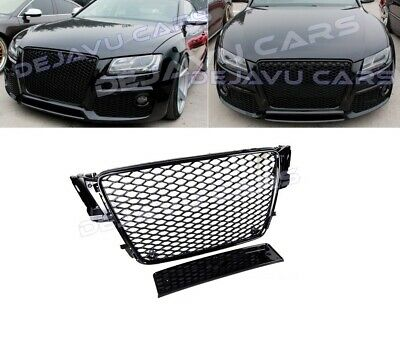 Rs5 Front Grill Mesh Honeycomb Grille Audi A5 B8 8t S5 Sline Gloss