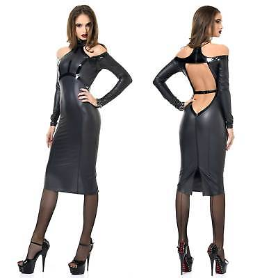 PATRICE CATANZARO Chiara Wetlook-Kleid Cocktail Dress m Lack Tolle Rückenansicht