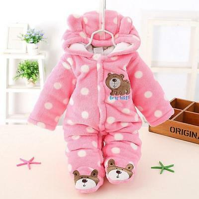 Baby Boy Girl Snowsuit Lightweight Hood All in One Newborn Outfits Clothes LH