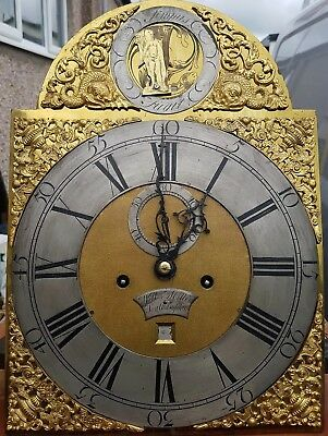 William Miller Southampton Brass Dial Longcase Grandfather Clock 8 day Automiton