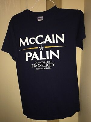 RIP John McCain Country First Prosperity Small Blue T-Shirt midterm elections