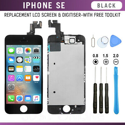 For iPhone 5SE Full LCD Display Touch Screen Digitizer Assembly Replacement BLK