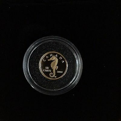 2014 Canada Seahorse 50-cent 1/25 oz Gold Proof Coin