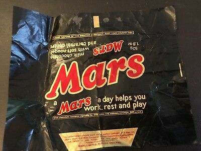 Mars Bar wrapper from pre 1975