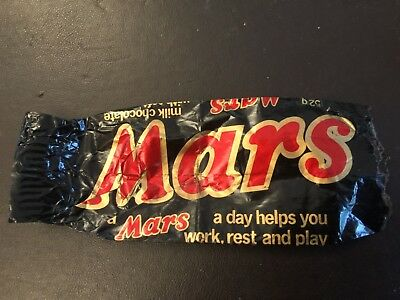 Mars Bar wrapper from mid to late 1970's
