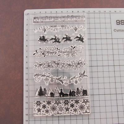 Diary Silicone Finished Chapter Stamp Flower Transparent Seal T1341 Christmas