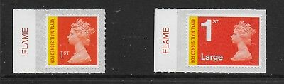 1) GB Stamps 2017 1st Recorded Delivery Signed For Flame Tab Set M17L.  Mint NH.