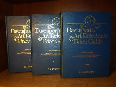 Davenport's Art Reference & Price Guide, 1994 - 3 Vol Set 130,000 artists