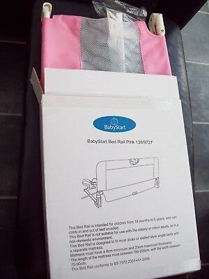 Babystart Pink Safety Bed Rail / Guard Nib!