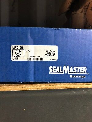 "SEALMASTER MFC-39 Medium Duty Piloted Flange Bearing 2-7/16"" Bore"
