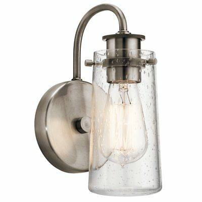 Kichler Braelyn 45457CLP Wall Sconce, Classic Pewter