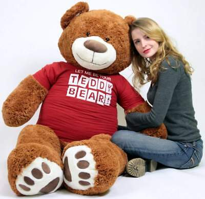ce495799a96 BIG PLUSH 5 Foot Giant Teddy Bear 60 Inch Soft Cinnamon Brown I Love ...