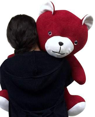 American Made Big Red Teddy Bear 24 Inch Soft Made in the USA America Brand New