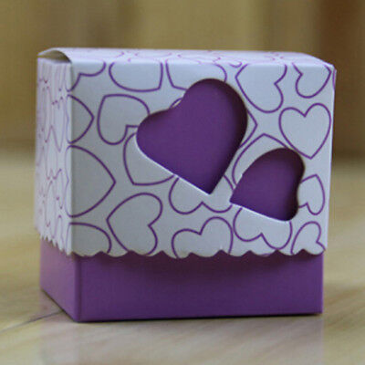 Double Love Heart Hollow Candy Gift Boxes With Ribbon Wedding Party Favor LH