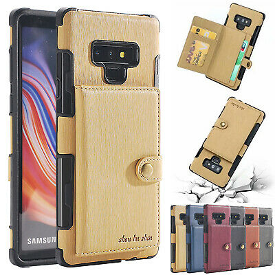 For Galaxy Note 9/8 S9/S8/S10 Plus/ S10E Leather Wallet Card Slot Case Cover