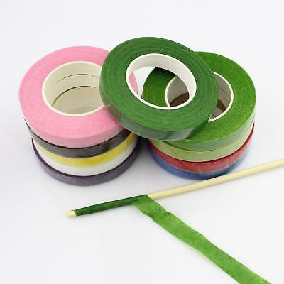 12rolls Paper Garland Tape  Florist Floral Stem Silk Flower Tapes Glue 12mm New