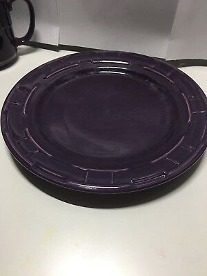 Longaberger Pottery Dinner Plate Eggplant PRICE DROP