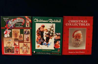 3 Pictorial Christmas Collectible Books Detailed Info Color Photos