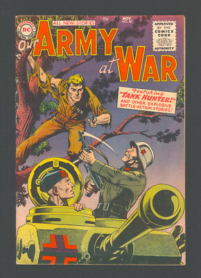 "OUR ARMY AT WAR #40 ""1955"". A TANK Cover, and Artwork by RUSS HEATH!"