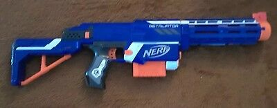 Nerf N Strike Elite Retaliator Dart Gun Blaster w/ Stock Barrel and clip