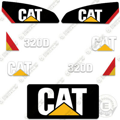 Caterpillar 320D Decal Kit Excavator Decals Reproduction Stickers (320 D)