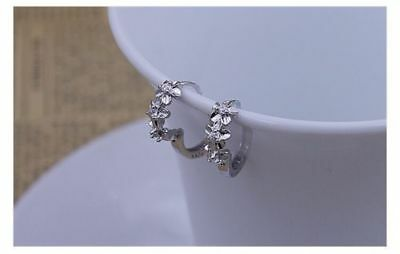 Women's 925 Sterling Silver Plated Small Round Hoop Earrings Sleeper Huggie Gift