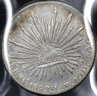 1887Oa-AE EIGHT 8 REALES REPUBLIC OF MEXICO