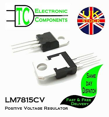5x L7815CV Positive Voltage Regulator TO-220  **UK SELLER** Free P&P