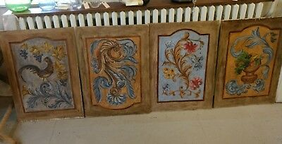 Antique Style Country French or Italian Painting Panels