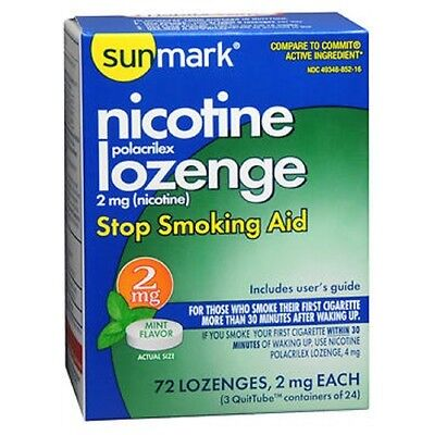 Sunmark Nicotine Polocrilex Losange Menthe 72 Chaque 2 Mg