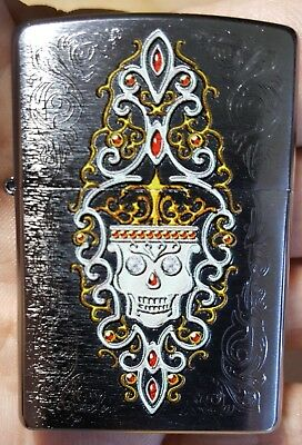 Zippo Lighter 2015 Full Size With Skull New No Seal