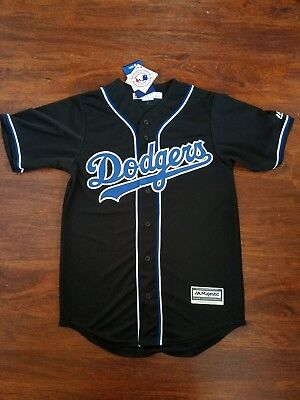 MLB Los Angeles Dodgers Men s Cool Base Custom Black Royal Baseball Jersey  SMALL 1c89987c8