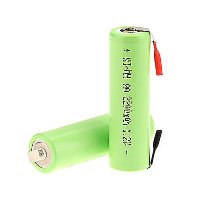 Generic 2PC 1.2V 2200mAh Ni-MH AA Rechargeable Battery for Electric Shaver Razor