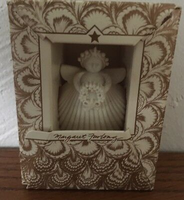 Collectible Margaret Furlong Angel With Wreath Ornament New