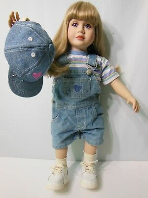 "My Twinn Doll 1997 Blonde Hair Blue Eyed Blue Eyes Blue Eye 23"" Poseable Outfit"