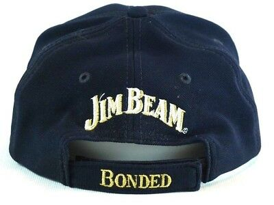 Jim Beam Genuine BONDED Gold Embroidered Baseball Cap Collectable Black