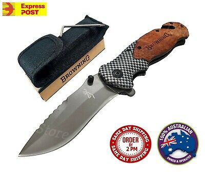 Browning Pocket Folding Opening Knife Camping Hunting Fishing Flipper Survival