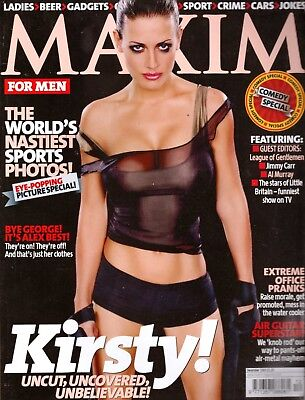 MAXIM MAGAZINE december 2003 kirsty gallacher