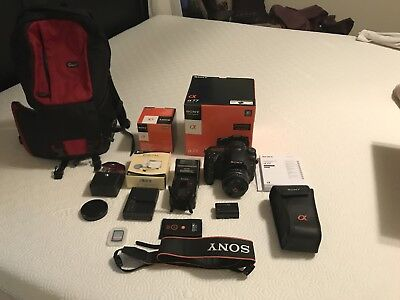 Sony Alpha A77 24.3MP Digital SLR Camera - Black (w/ DT 35mm Lens F1.8) + More!