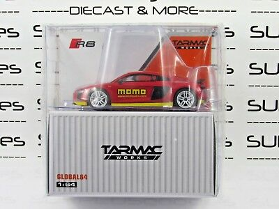 Tarmac Works 1:64 Scale 2018 Global64 AUDI R8 V10 Plus MOMO Livery T64G-001-MOMO