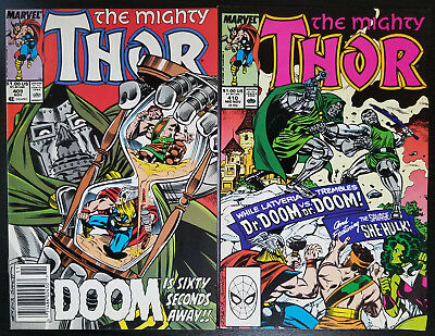 The Mighty Thor #409 & 410 Set (1989, Marvel) Doctor Doom Story