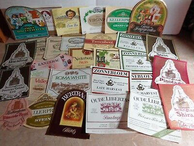 Lot of 30 Wine and Liquor Labels -- Great for Crafts No two labels are the same