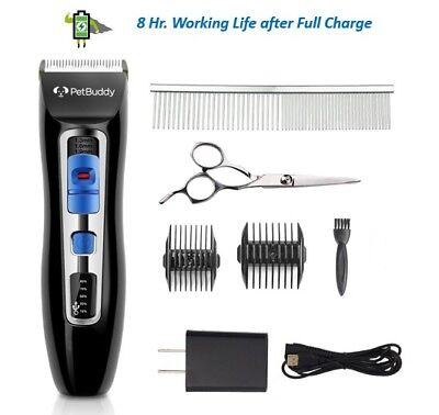 PetBuddy Dog Grooming Clippers Kit Professional Silent Rechargeable Trimmer