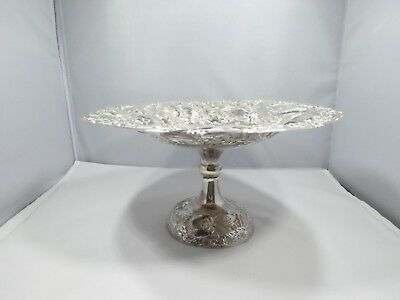 Large Sterling Silver Fruit Stand Or Tazza 12.13 Troy Ounces