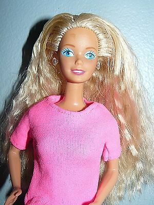 aa97dfbce211 Mattel 1980s Twist  N Turn Blond Barbie Doll in pink shirt floral pants and  shoe